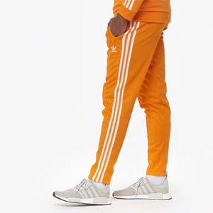 adidas Beckenbauer Joggers In Orange size S men's